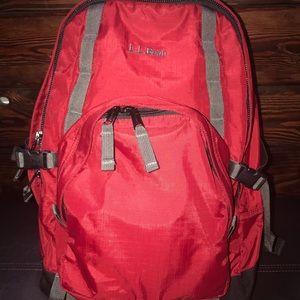 Red Day Trekker Day Pack Black M L.L.Bean